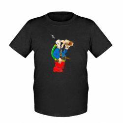 Дитяча футболка Козак п'є пиво