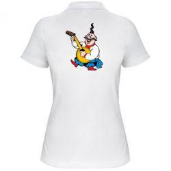 Женская футболка поло Козак с бандурой - FatLine