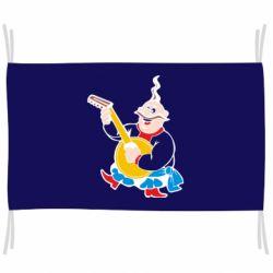 Флаг Козак с бандурой