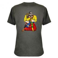 Камуфляжна футболка Козак зі зброєю
