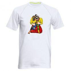 Чоловіча спортивна футболка Козак зі зброєю