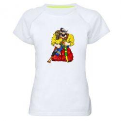 Жіноча спортивна футболка Козак зі зброєю