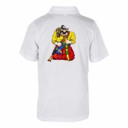 Дитяча футболка поло Козак зі зброєю