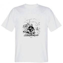 Мужская футболка Козак та кінь - FatLine