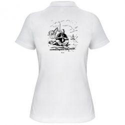 Женская футболка поло Козак та кінь - FatLine