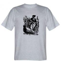 Мужская футболка Козак у камишу - FatLine