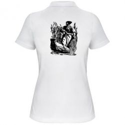 Женская футболка поло Козак у камишу - FatLine