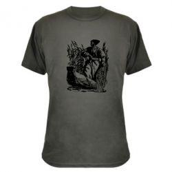 Камуфляжная футболка Козак у камишу - FatLine