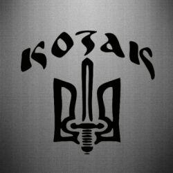 Наклейка Козак з гербом - FatLine