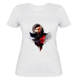 Женская футболка Козак з красным маком