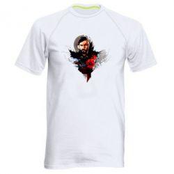 Мужская спортивная футболка Козак з красным маком