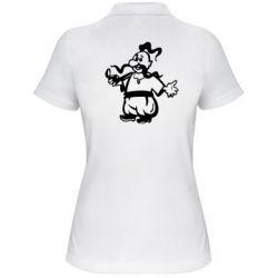 Женская футболка поло Козак з люлькою - FatLine