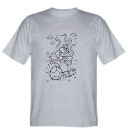 Мужская футболка Козак з м'ячем - FatLine
