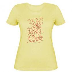 Женская футболка Козак з м'ячем - FatLine