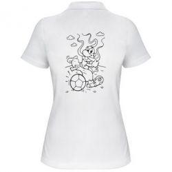 Женская футболка поло Козак з м'ячем - FatLine