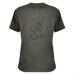 Камуфляжная футболка Козак з м'ячем - FatLine
