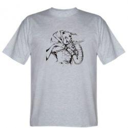 Мужская футболка Козак з щитом - FatLine
