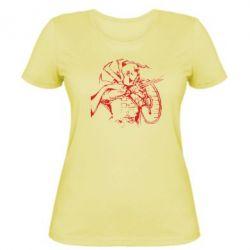 Женская футболка Козак з щитом - FatLine