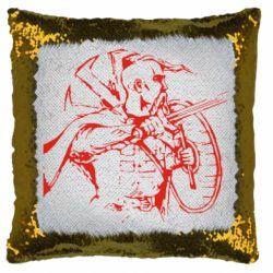 Подушка-хамелеон Козак з щитом