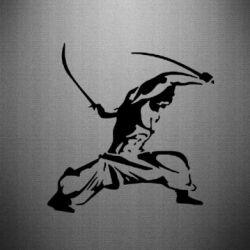 Наклейка Козак з шаблями - FatLine