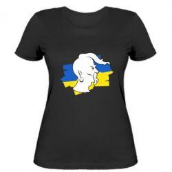 Женская футболка Kozak zahisnik