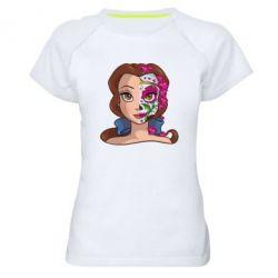 Жіноча спортивна футболка Красуня і чудовисько Бель
