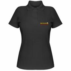 Женская футболка поло Краще пузо від пива, а ніж горб від роботи