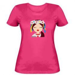 Женская футболка Красива україночка