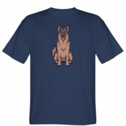 Мужская футболка Красивая овчарка