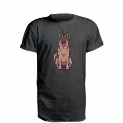 Удлиненная футболка Красивая овчарка