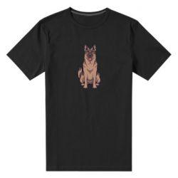 Мужская стрейчевая футболка Красивая овчарка