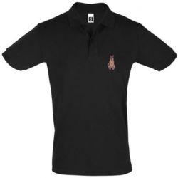 Мужская футболка поло Красивая овчарка