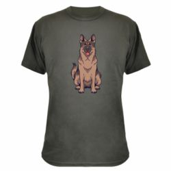 Камуфляжная футболка Красивая овчарка