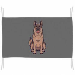 Флаг Красивая овчарка
