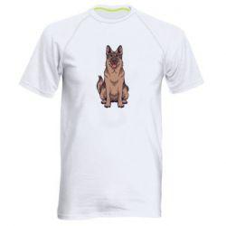 Мужская спортивная футболка Красивая овчарка
