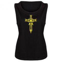 Женская майка Крест 2 - FatLine