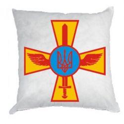 Подушка Хрест з мечем та гербом