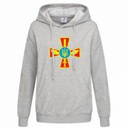 Женская толстовка Крест з мечем та гербом - FatLine