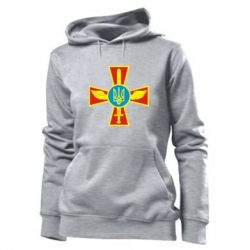 Толстовка жіноча Хрест з мечем та гербом
