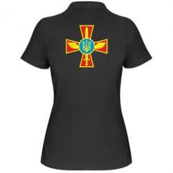 Женская футболка поло Крест з мечем та гербом - FatLine