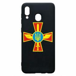 Чохол для Samsung A30 Хрест з мечем та гербом