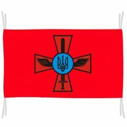 Прапор Хрест з мечем та гербом