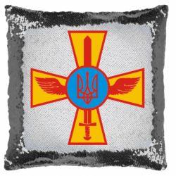 Подушка-хамелеон Хрест з мечем та гербом