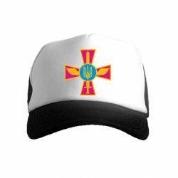 Дитяча кепка-тракер Хрест з мечем та гербом
