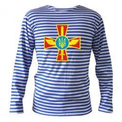Тельняшка с длинным рукавом Крест з мечем та гербом - FatLine