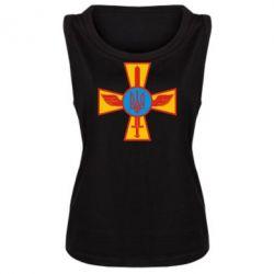 Женская майка Крест з мечем та гербом - FatLine