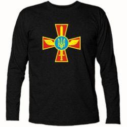 Футболка с длинным рукавом Крест з мечем та гербом - FatLine