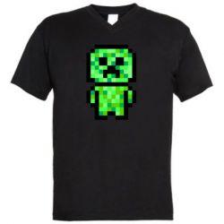 Чоловіча футболка з V-подібним вирізом Кріпер піксель арт