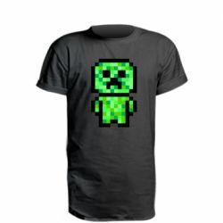 Подовжена футболка Кріпер піксель арт