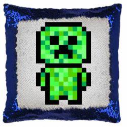 Подушка-хамелеон Кріпер піксель арт